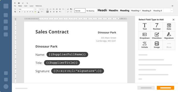 Workflow document feature example